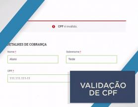 Validação de CPF