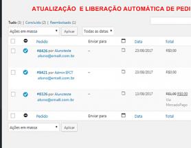 Atualização Automática de Pedidos